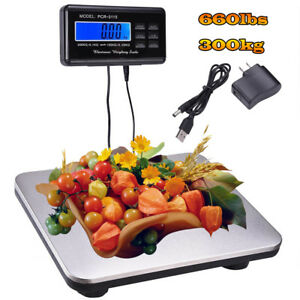 Practical Electric Lcd Ac Digital Floor Bench Scale Postal Platform 660lbs New