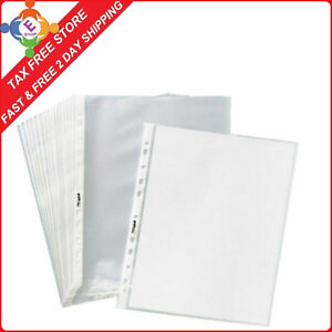 1000clear Sheet Page Protectors Plastic Office Document Sleeves Non Glare 8 5x11
