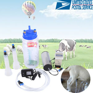2l Portable Electric Milking Machine Goat Sheep Milker With Pulse Controller Us