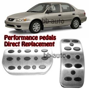 For 98 08 Toyota Corolla At Gas Brake Foot Non Slip Accelerator Pedals Pad X2