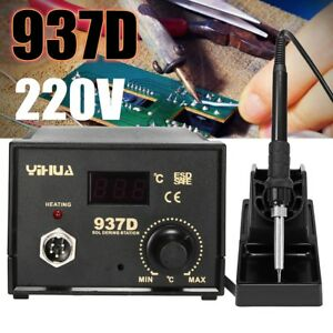 937d 220v Electric Soldering Iron Digital Display Station Welding Handle Tool