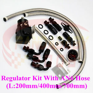 An6 6 6an Fuel Presure Regulator Meter Gauge Kit Fitting Oil Steel Line Hose K