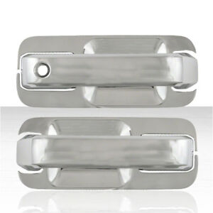 Set Of 2 Front Door Handle Covers For 2015 18 Ford F 150 Chrome W O Smart Key