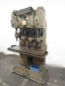 Leland Gifford Multi spindle Drill Press 7 12 X 39 Table 4 Heads 0818