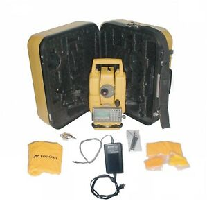 Topcon Gpt 3207nw Total Station Surveying Transit Wcase charger tribrach battery