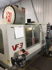 Used 2001 Haas Vf 3 Cnc Vertical Machining Center Mill 40x20 Tsc Side Mount 40