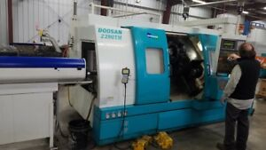 Used Doosan Mecatac Z280 Tm Live Tool Sub Spindle Cnc Turning Center Lathe 2000