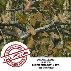 Hydrographic Water Transfer Hydro Dipping Dip 1m Film 19 X38 Early Fall Camo