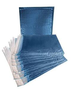 10 Pack Metallic Bubble Mailers 15 X 17 Blue Padded Envelopes Xxl Large Bags