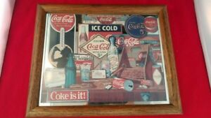 Vintage 1992 Coca Cola Coke Advertisement Mirror