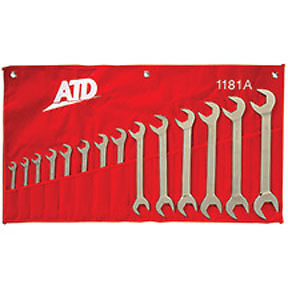 Atd 4 way Open End Angle Wrench Set Sae 14pc 3 8 To 1 1 4 1181