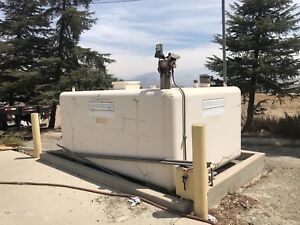 Supervault Concrete Above Ground Diesel Fuel Storage Tank 2000 Gallon Capacity