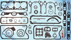 1961 1966 Pontiac 326 389 421 V8 Engine Gasket Overhaul Set C540249rs