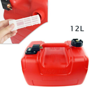 12l 36x26x20cm Portable 3 2 Gallon For Yamaha Outboard Fuel Tank With Connector