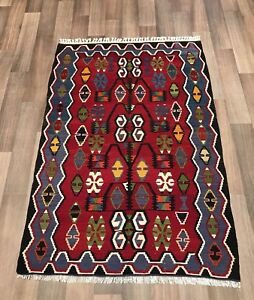 Turkish Vintage Old Kilim Rug Kelim Carpet From Sivas Bohemian 3 5 X5 Foot