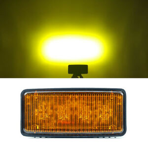 Re306510 Led Headlights For John Deere 12v 24v Led Sealed Beam With Amber Lens