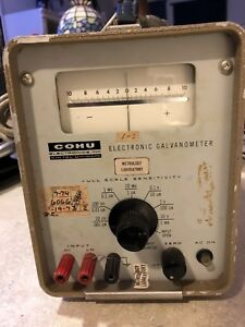 Cohu Electronic Galvanometer Test Equipment Model 204a Measure Meter Works