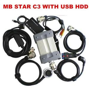 Mb Star Diagnostic Multiplexer Tester C3 Full Set With All Cables Software