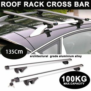 53 Car Top Roof Cross Bars Crossbars Luggage Cargo Carrier Rack Frame Key Ma