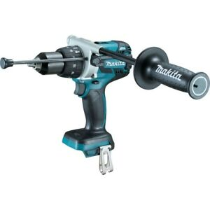 Makita Hammer Drill Driver 1 2 In 18v L ion Cordless Led Lights Tool Only