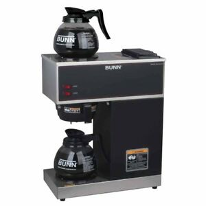 Bunn Vpr 12 cup Commercial Coffee Brewer With Two Glass Decanters 2 Warmers