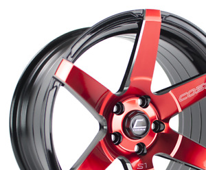 Cosmis Racing S1 18x9 5 15 5x114 3 Red Civic Rsx Tsx Mazda3 Is300 Wrx 240sx