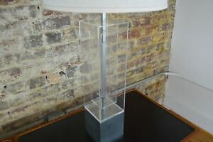 Mutual Sunset Lucite Mid Century Modern Glam Table Lamp