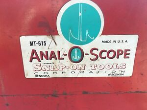 Snap on Anal O Scope Mt 615 Oscilloscope Portable Diagnostic Tool Untested