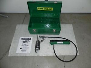 Greenlee 800 Hydraulic Cable Bender With 767 Hand Pump 4 New Hose Nice