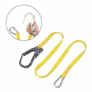 Jelegant Safety Lanyard Outdoor Climbing Harness Belt Lanyard Fall Protection