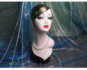 New Hand painted Retro fashioned Head Mannequin For Jewelry Necklace Display