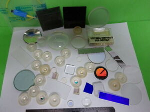 Lot Optical Lenses Prism Mirror Mil Spec Laser Optics As Is as 58