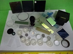 Lot Optical Lenses Prism Mirror Mil Spec Laser Optics As Is aq 35
