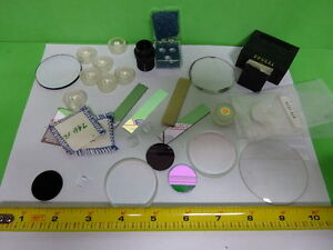 Lot Optical Lenses Prism Mirror Mil Spec Laser Optics As Is aq 37