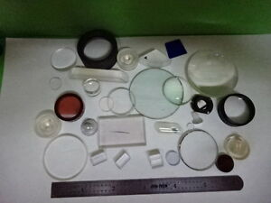 Lot Optical Lenses Prism Mirror Mil Spec Laser Optics As Is as 36