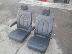 New Takeouts 2 Bucket Seats Black Leather Classic Car Jeep Hotrod Bus Van Truck
