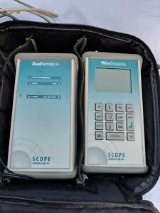 Scope Communications Wirescope 155 Dual Remote 155 W case Free S