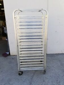 Used 20 Sheet Aluminum Pan Rolling Bakery Rack local Pick Only In Santa Ana Ca
