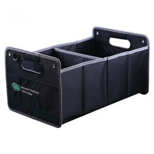 Car Trunk Organizer Auto Collapsible Cargo Storage Embroidery For Land Rover