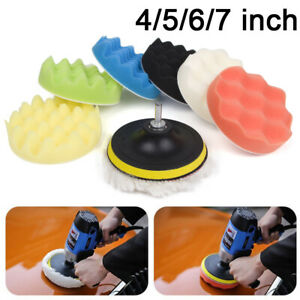 9 Pack 4 5 6 7 Buffing Pads Sponge Polishing Pad Kit For Car Polisher