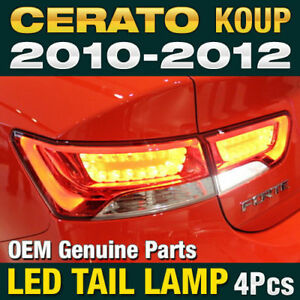 Oem Parts Surface Emission Trunk Led Tail Lamp 4p For Kia 2010 2013 Cerato Koup