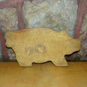 Vintage Pig Kitchen Cutting Board Worn Smooth Country Kitchen Rustic Farmhouse