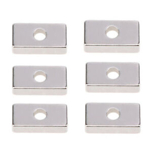 Lot N52 Strong Magnets 19 9 4mm Block With 4mm Hole Rare Earth Neodymium Magnet