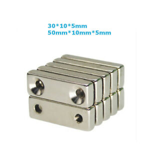 Lots N35 Super Strong Double Holes Magnets Rare earth Neodymium Magnet N35 Craft