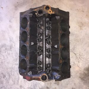 1957 Chevrolet 283 Engine Block 3731548 Date L 27 56 Standard Bore