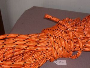 Double Braid Polyester 1 2 x 75 Feet Arborist Rigging Tree Rope Roofer Safety