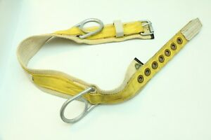 Vtg Miller Lineman Safety Body Belt With Two Side D rings Style 2 na 2na Yellow