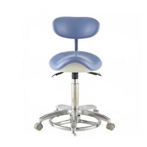 Dental Saddle Doctor Chair Dentist Stool Pu Leather With Deluxe Foot controll