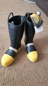 Thorogood Fireman Turnout Boots Size 12 1 2w New