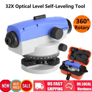 High Precision 32x Dumpy Level Auto Level Optical Level Surveying Tool Kit